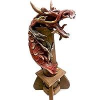 Red Dragon - Bruciatore per incenso, in legno di bambù, realizzata a mano e di trucioli, motivo: