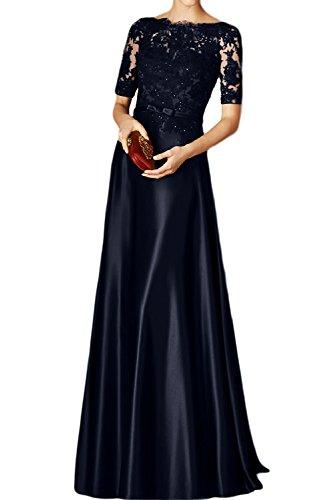 Toscana sposa Rueckenfrei kraftool Chiffon sogno un'ampia per la sera vestiti festa ball vestimento blu navy