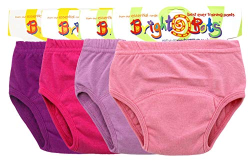 BRIGHT Bots, Potty Training Pants Trainers 4PK Extra Large With PUL Lining-Mädchen (Approx 2-3YR)