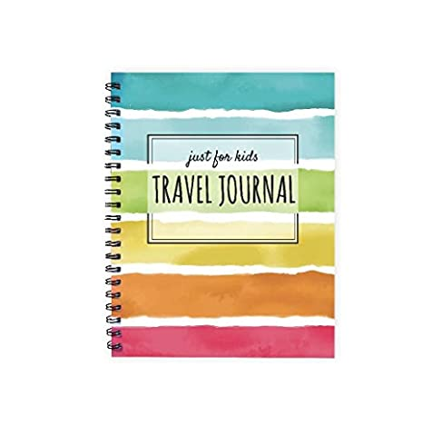 """One Love Paper Co. Kid's Travel Softbound Journal – 1-Week Diary Workbook – Planner, Sightseeing, Itinerary, Map, and Journaling Pages - 8.5 x 11"""""""