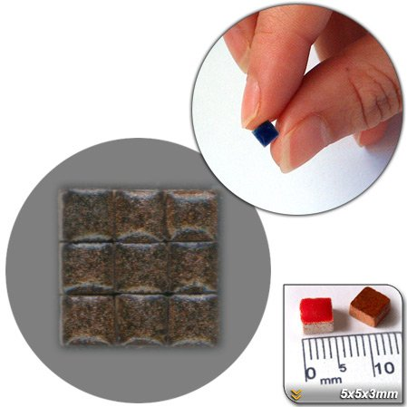 Mini Mosaïque (5x5x3mm), 1000 tesselles, Or noir, WMS2