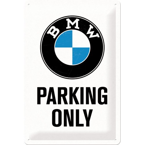 nostalgic-art-22241-bmw-parking-only-white-blechschild-20-x-30-cm