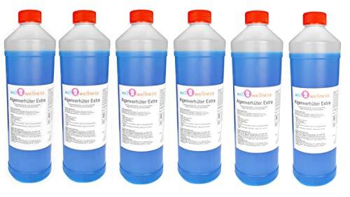 well2wellness Pool Algenverhüter + Algenvernichter Extra 'Blue' 6 x 1,0 l - hochkonzentriert + schaumfrei