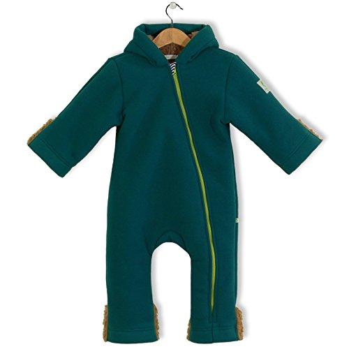 bubble.kid berlin - Unisex Baby Mädchen Jungen Herbst Winter Anzug Overall Einteiler Jumpsuit Onesie, Fleece Overall, Tec Doublefleece, Grösse 86/92 (1-2 Jahre), Farbe: Petrol