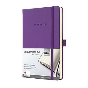 Sigel CO561 Notizbuch, ca. A5, kariert, Hardcover, violett, CONCEPTUM - viele Modelle