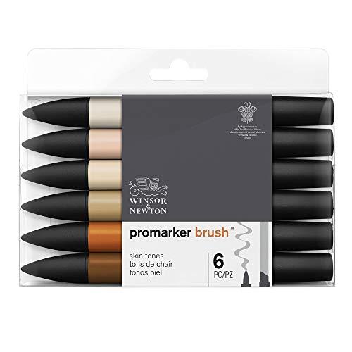 Winsor & Newton Promarker Brush - 6 pennarelli Toni Tinta Carne