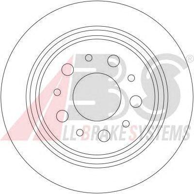 ABS 17410 Bremsscheiben - (Verpackung enthält 2 Bremsscheiben)