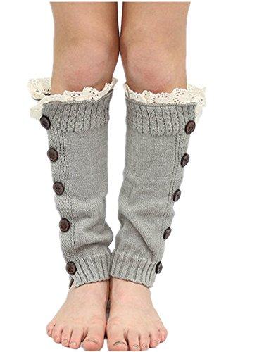 Wolle Knee Warmers (Fletion Baby Kinder Jungen Mädchen Boots Strümpfe Winter Warme Legwarmers Kniestrümpfe Stricken Länge Leggings Socken Knee Boots Socks)