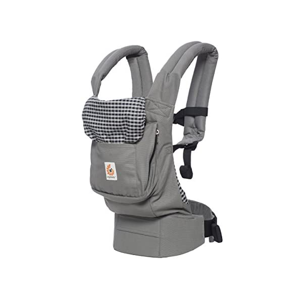 "Ergobaby Baby Carrier Toddler Front Back Original Steel Plaid, 100% Cotton Ergonomic Child Carrier Backpack Ergobaby Ergonomic Baby Carrier - Ergonomic for baby with wide deep seat for a spread-squat, natural ""M"" seated position. Baby carrying system with 3 carry positions:  front-inward, hip and back. From baby to toddler: 5.5*-15 kg (* from 3.2-5.5 kg / 7-12 lbs with Infant Insert, sold separately). Wearing comfort - All-day comfort with extra-padded shoulder straps (1 inch high density foam) and padded waistbelt  (1/4 inch) 3"