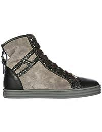 Hogan Rebel Sneakers Alte R182 Donna Grigio 36 EU 865c3d7e390