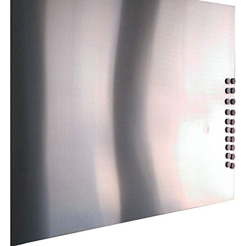 Edelstahl Magnetwand Pinnwand Magnetisches VA Blech Spiegeleffekt oder geschliffen (1000x500mm 4x Bohrungen, K240 geschliffen)