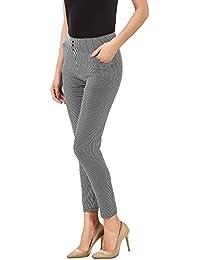 ICW New Fashion 2017 Spring Summer Stripes Ankle-Length Pants Trousers Women Skinny Elastic Waist Pencil Pants Pantalon Femme (Free Size)