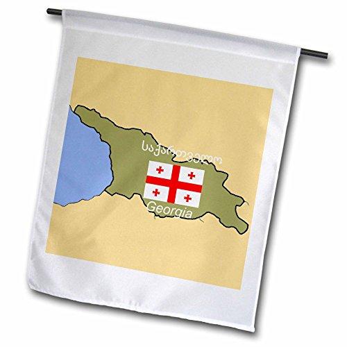 1Die Karte und Flagge von Georgien das Land mit Georgien Gedruckt in Englisch und Georgian Garten Flagge, 12von 18 (Georgien Flagge Land)