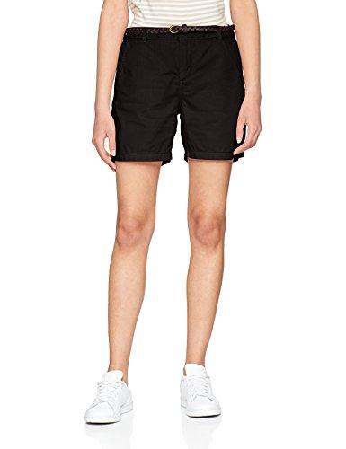 VERO MODA Damen Vmflame NW Chino Shorts Noos, Schwarz (Black Black), 38 (Herstellergröße: M)