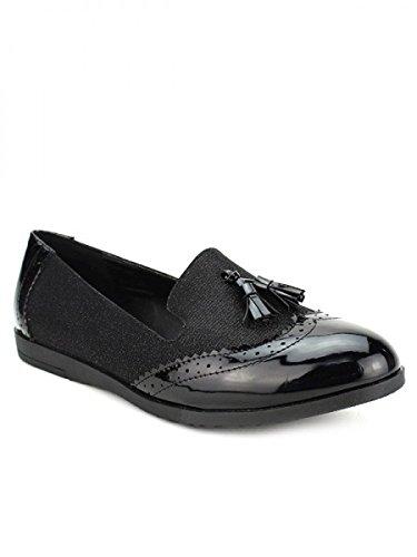 Cendriyon, Mocassin Black CINKS LOOKS Chaussures Femme Noir