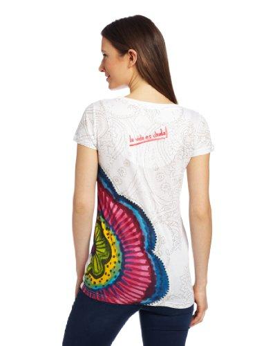 Desigual - T-Shirt - Femme Blanc