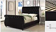 Bed 180 * 200 cm سرير نوم اسود (Black)