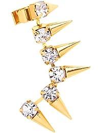 Front Row pendientes tipo gancho de oreja mujer color de oro diseño pinchos