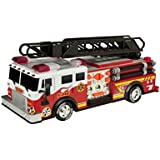 "Toy State 14"" Rush And Rescue Police And Fire Hook And Ladder Fire Truck"