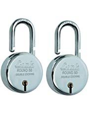 Link Round Steel Lever Bcp 50mm (Silver, Pack of 2)