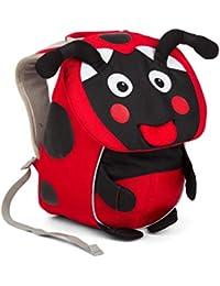 Affenzahn Kinderrucksack mit Brustgurt Maja Marienkäfer für 1-3 Jährige Jungen und Mädchen im Kindergarten oder Kita - Rot