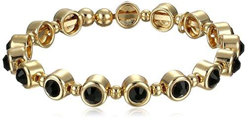 kensie-snow-princess-gold-plated-jet-circular-stone-flex-bangle-bracelet-225