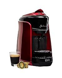 Bonhomia Boho Single Serve Coffee Maker Capsule, Passion Red, 5kg with 100 Bonhomia Coffee Capsules