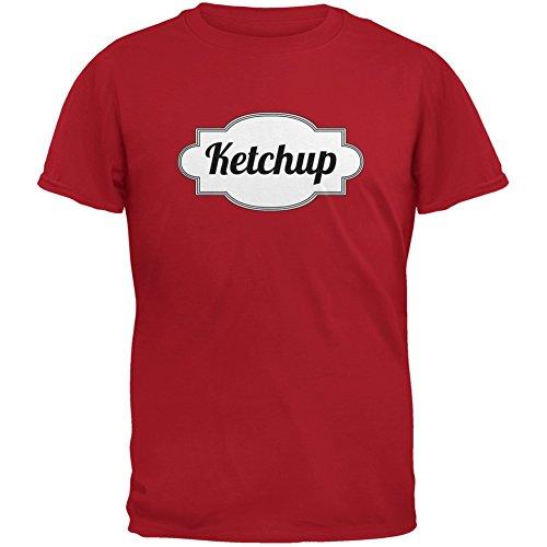 Ketchup Halloween Kostüm rot Erwachsenen (Ketchup Kind Kostüme)