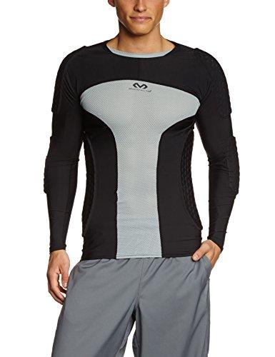 McDavid Herren Hex Pro Style Fußball Torhüter Shirt Extreme II, Schwarz/Grau, L, 7737R-BGR (Mcdavid Hexpad Shirt)