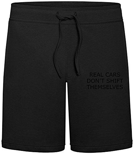 Real Cars Don't Shift Themselves Sommer Sweat-Shorts für Männer - 80% Baumwolle, 20% Polyester - Hochwertige Hosen für Indoor & Outdoor-Aktivitäten Medium (Relaxed Fit-shift)