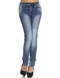 Itaimaska Damen Stretch Jeans Hose Röhren Übergrößen Hosen 21324