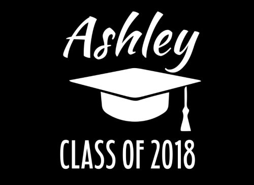 Ashley Class Of 2018: Graduation Cap Guest Book For Party, Personalized Gift. Graduate Advice or Autograph Book Unlined. (Tassel Zone) -