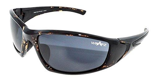 WrApz Streamline TR90Flex frame protezione UV400occhiali da sole, Uomo unisex donna, Brown Demi, Taglia unica
