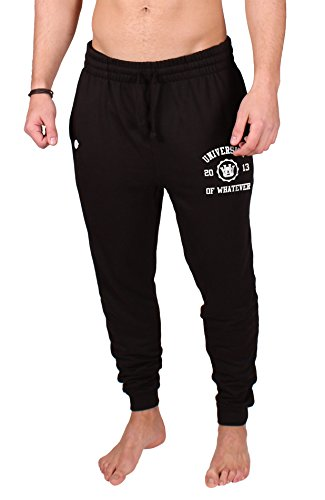 University of Whatever Slim Fit Sweathosen Herren Sofa Division schwarz M (Abercrombie Fitch Hose &)