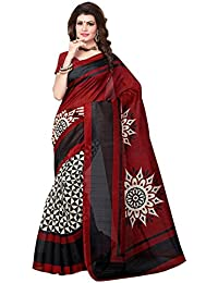 ShivGami Women's Printed Art Silk Sarees (SGSAREE-09_Multi-Coloured)