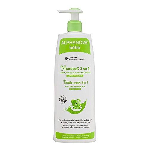 Alphanova Bebe-Organic 3 In 1 Baby Bubble Wash (500ML)
