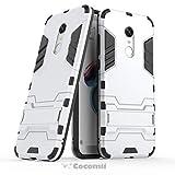 Cocomii Iron Man Armor Xiaomi Redmi Note 5/Redmi 5 Plus Hülle [Strapazierfähig] Taktisch Griff Ständer Stoßfest Gehäuse [Heer Verteidiger] Case Schutzhülle for Xiaomi Redmi Note 5 (I.Silver)