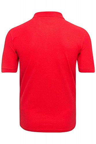 U.S. Polo Assn. Shirt Herren Poloshirt Polohemd Baumwoll Hemd in Verschiedenen Farben Rot/Schwarz