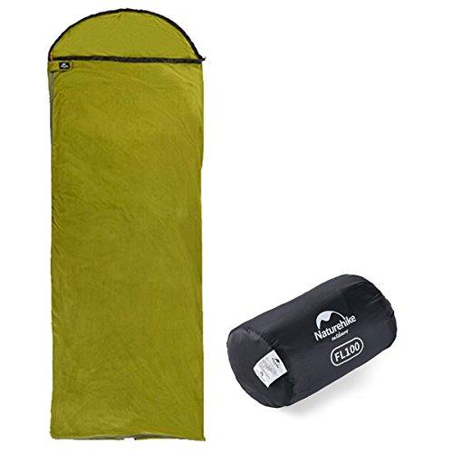 Azarxis sacco lenzuolo a pelo sacchi lenzuola saccolenzuolo letto saccoletto vello leggero portatile adulti da viaggio campeggio camping hotel trekking per singolo 1 persona posto (verde)