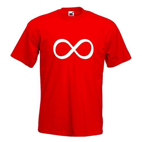KIWISTAR - Unendlichzeichen T-Shirt in 15 verschiedenen Farben - Herren Funshirt bedruckt Design Sprüche Spruch Motive Oberteil Baumwolle Print Größe S M L XL XXL Rot