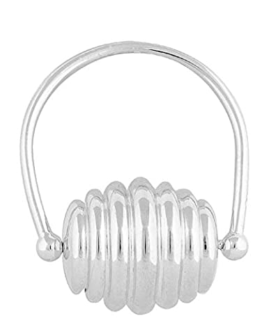 Argent Sterling Anneau Dentition-Beehive