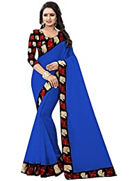 10b16392976c5 Nandini Creation Blue Color Cotton Kalamkari Designer Party Wear Saree  -Pari CHAND Blue