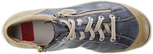 Rieker M3730, Bottes Classiques Femme Bleu (marble/Jeans/altsilber/perle-Silber / 60)
