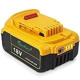 QUPER 18V 6.0mAh DCB184 MAX XR Lithium-Ionen-Akku Ersatz für Dewalt DCB180, DCB181, DCB182, DCB201, DCB201-2, DCB200, DCB200-2, DCB204-2, DCB205-2 18V Akku