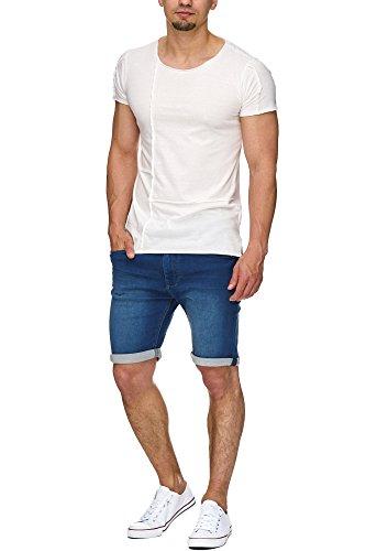 INDICODE Herren Kadin Shorts Shorts Denim Bermuda Navy