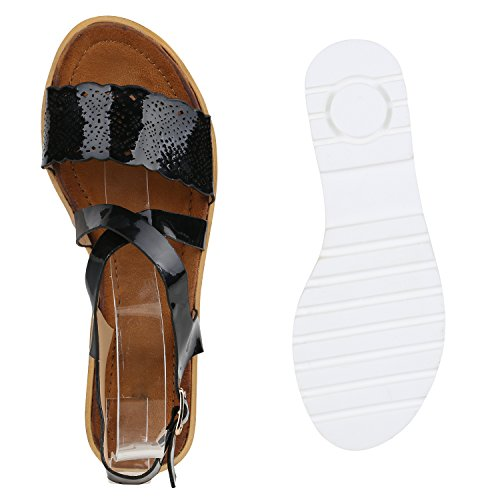 Senhoras Metálica buracos Sandália Perfil Tinta De Sandálias Único Preta sapatos Confortáveis Confortáveis 7xwqOPr7a