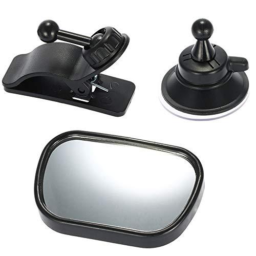 Rücksitzspiegel für Babys Spiegel Auto Baby mit Saugnäpfe und Klammer Yxaomite Rückspiegel verstellbare für Babyschalen