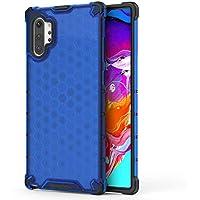 FAWUMAN Funda para Samsung Galaxy Note10 Pro Soft TPU + Duro PC Doble Parachoques Cubierta,Carcasa con Forma de Panal,Antideslizante,Funda Anticaída (Azul)