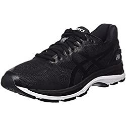 Asics Gel-Nimbus 20, Zapatillas de Entrenamiento para Hombre, Negro (Black/White/Carbon 9001), 45 EU