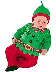 Vine Ropa de Santa Claus De Bebé manga larga Con tapas + sombrero ropa conjunto de bebé